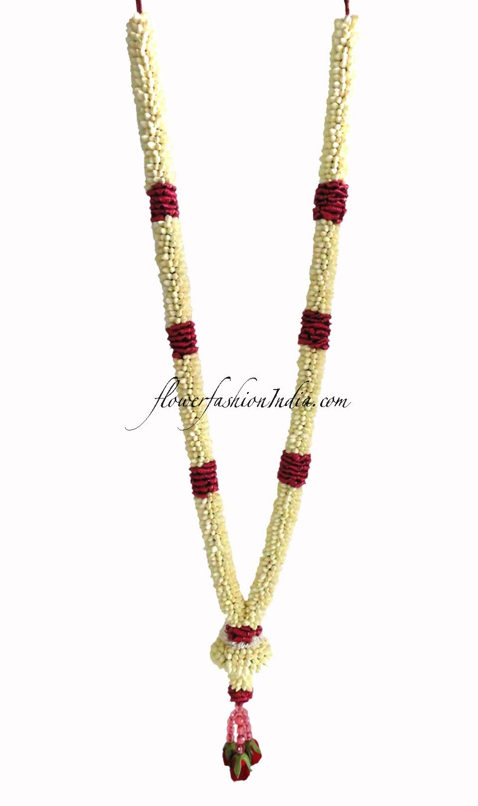 Buy Jasmine And Red Rose Flowers Wedding Garland 1 Pair Flower Fashion India