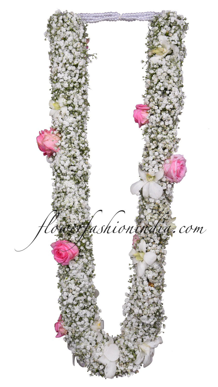 Full Jipsofilia Garland With Pink Rose White Orchid High Lights 1 Pair Flower Fashion India